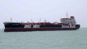 A British-flagged oil tanker Stena Impero which was seized by the Iran's Revolutionary Guard on Friday