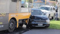 Bus hits two cars in Auckland crash