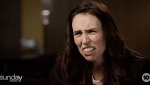 The interview showed Jacinda Ardern is trying to run two different positions, writes Heather. (Photo / Channel 10)