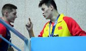 Sun Yang and Duncan Scott. Photo / Getty Images