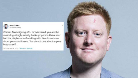 Political 'aide' resigns on MP's Twitter account in furious tirade
