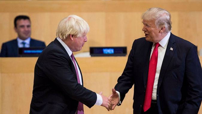 Trump praises Boris Johnson, says he is loved by the UK
