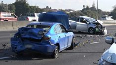 How stolen car's collision closed Auckland highway for more than two hours