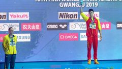 Heather asks: Why was Sun Yang even allowed to compete? (Photo / Getty)