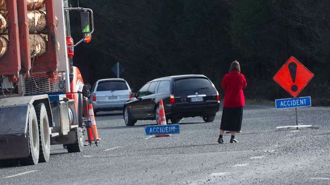Hearses arrive at fatal forestry crash which killed four