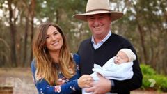 Barnaby Joyce started a new family with former employee Vicky Campion. (Photo / Channel 7)