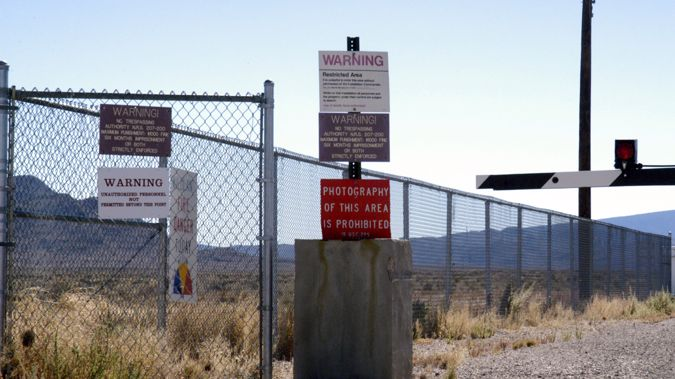 The Guard Gate at Area 51. Photo / Getty Images