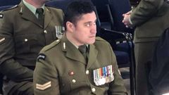 Corporal Daniel Turua of Royal NZ Infantry Regiment 2/1 Battalion admitted four charges at a court martial at Burnham today. (Photo / Kurt Bayer)