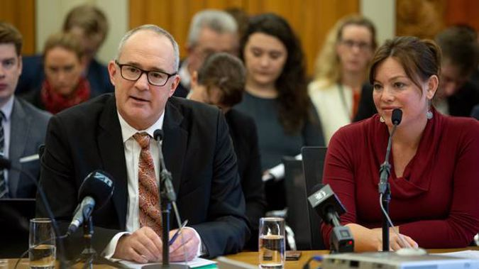 Transport Minister Phil Twyford and Associate Transport Minister Julie Anne Genter. Photo / Mark Mitchell
