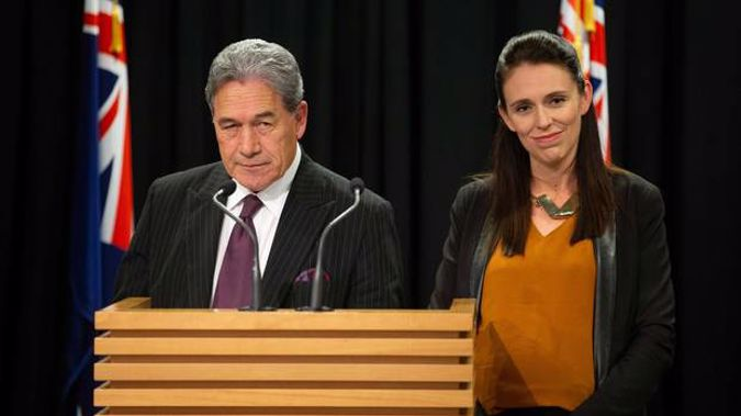 Winston Peters and Jacinda Ardern. (Photo / NZ Herald)