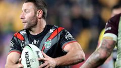 Blake Green of the Warriors makes a break during the round 21 NRL match between the New Zealand Warriors and the Manly Warringah Sea Eagles. Photo / Getty Images