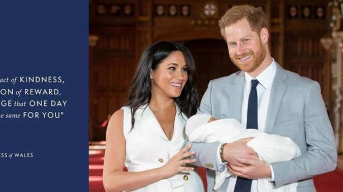 The Duke and Duchess of Sussex posted a touching tribute to Princess Diana. Photos / Instagram, Supplied