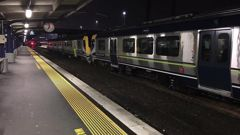 The train came to a halt after the conductor overheard the racial abuse. (Photo / RNZ, Michael Cropp)