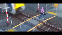 Close calls at level crossings takes toll on train drivers prompting launch of safety campaign. (Video / Auckland Transport)