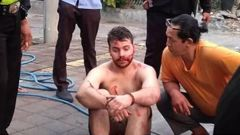 Nicholas Carr was detained in a citizens' arrest. (Photo / Supplied via  Twitter)