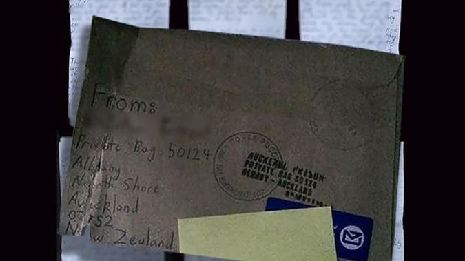 The six-page letter was written from the accused gunman's prison cell. (Photo / Supplied)