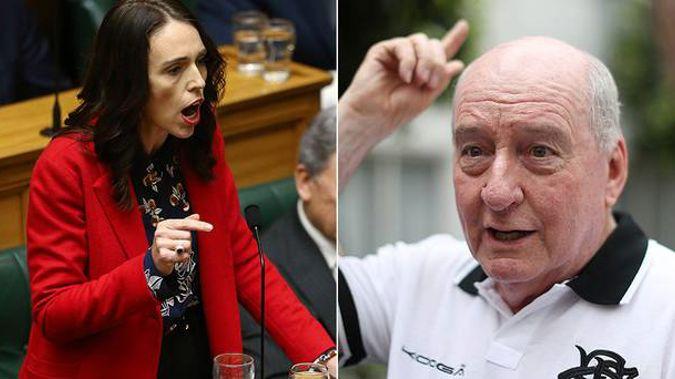 Broadcaster Alan Jones and a number of Australians have slammed Jacinda Ardern after she took aim at Scott Morrison over climate change. Photo / Getty