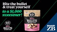 Win $1000 cash with RJ's chocolate-covered licorice bullets