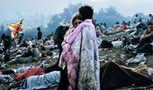 Burk Uzzle's photograph became an iconic image of Woodstock.