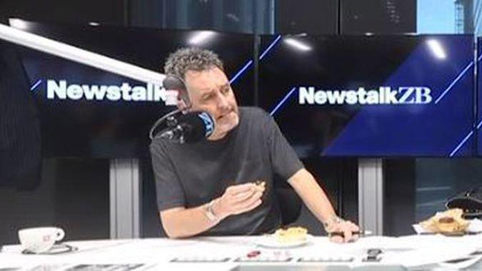 Mike Hosking tries Eat Lit Food's Peanut Slab meat pie