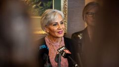 Coalition NZ leader Hannah Tamaki announcing the launch of her party in May. Photo / Mike Scott