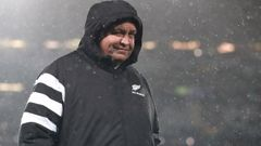 All Blacks coach Steve Hansen looks on. (Photo / Getty)