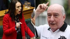 Alan Jones came under fire last week for controversial comments about Jacinda Ardern. (Photo / Getty)