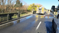 Milk tanker crash causes injuries and delays in Canterbury