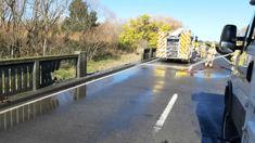 Milk tanker crash causes injuries and delays in Canterbury