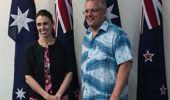 PM Jacinda Ardern and Australian PM Scott Morrison at the Pacific Islands Forum. (Photo / Jason Walls)