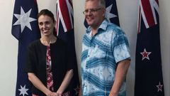 PM Jacinda Ardern and Australian PM Scott Morrison at the Pacific Islands Forum. (Photo / Jason Walls)