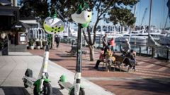 The new Lime G3 scooters. (Photo / NZ Herald)