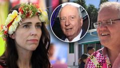 Alan Jones sparked outrage over his 'misogynistic rant' against Kiwi PM Jacinda Ardern. (Photos / Getty)