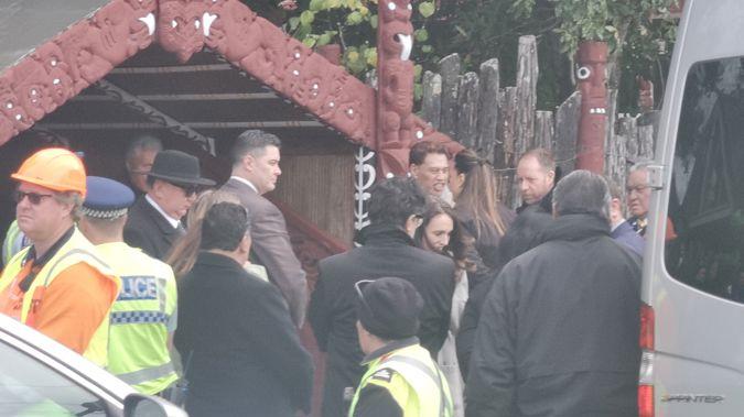 Prime Minister Jacinda Ardern arrives at Tūrangawaewae. (Photo / NZME)