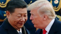 Chinese president Xi Jinping and President Donald Trump. Photo / AP
