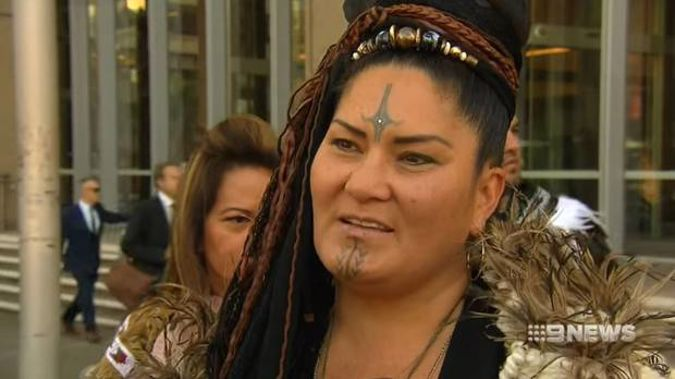 Lady Crown, the leader of Ngāti Rangihou Kanguru hapū, maintains that in the early 1800s aboriginal leaders entrusted their Maori king to 112 acres in Parramatta. Photo / 9 News