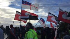 Ihumātao hīkoi marches to prime minister Jacinda Ardern's office, but she's not there to meet them