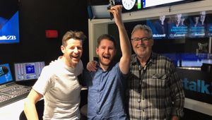 Producer Tyler gets his second win (finally) Photo: Newstalk ZB