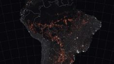 NASA images shows Amazon fires captured from space