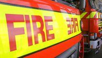 Canterbury fire crews battling house fire