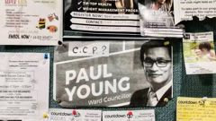 A flyer showing an image of councillor Paul Young and the intials of the Chinese Communist Party - CCP . Photo / Supplied