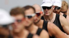 The New Zealand eight with Mahe Drysdale missed out on Olympic qualification. (Photo / Getty)