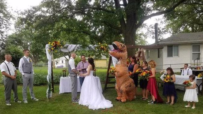 """'I wanted something that I would be willing to wear more than once,"" says the bridesmaid. Photo / Facebook"