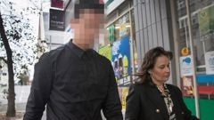 The accused, pictured walking with his lawyer Emma Priest outside the Auckland District Court. Photo / NZ Herald