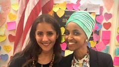 Green MP Golriz Ghahraman and US representative Ilhan Omar during their meeting in Washington DC. (Photo / Golriz Ghahraman)