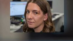 NZ Herald reporter Georgina Campbell in the Wellington newsroom a few days after being injured in Christchurch. (Photo / Mark Mitchell)