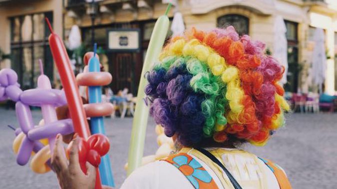 It's understood the clown folded balloon animals during the meeting. Photo / Getty Images