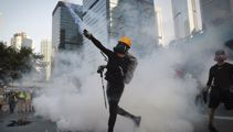 Police use water cannons, tear gas in latest Hong Kong protests