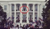 Donald Trump was seen standing on the White House balcony. (Photo / News.com.au)