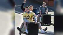 Police criticise Dunedin wheelie bin riders